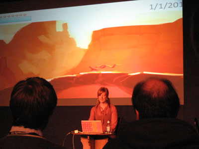 Robin Hunicke presents the development of Journey at GameCity