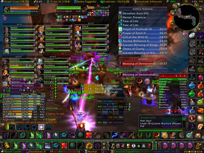 World of Warcraft screen with massive campaign detail